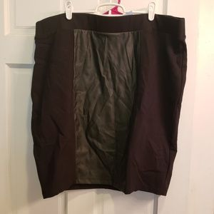 torrid size 24 pencil skirt with pleather panel